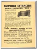 American Machine Metals Inc 1941 vintage textile ad Tolhurst Suprex