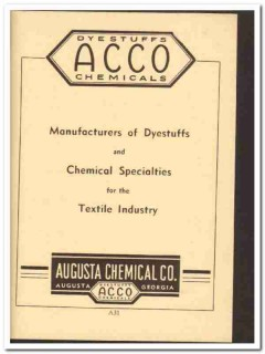 Augusta Chemical Company 1949 vintage ad textile industry dyestuffs