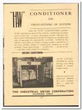 Industrial Dryer Corp 1949 vintage textile ad cotton H-W Conditioner