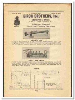 Birch Brothers Inc 1948 vintage textile ad dyeing finishing machinery