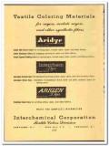 Interchemical Corp 1952 vintage ad textile Coloring Aridye Arigen dyes