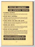 Proctor Schwartz Inc 1952 vintage textile ad synthetic equipment nylon