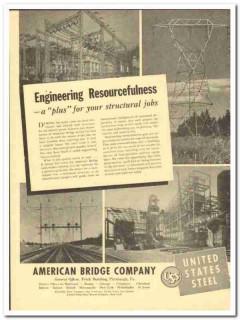 American Bridge Company 1943 vintage electrical ad engineering