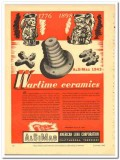 American Lava Corp 1943 vintage electrical ad wartime ceramics