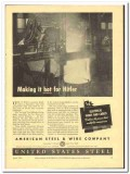 American Steel Wire Company 1943 vintage electrical ad Hitler