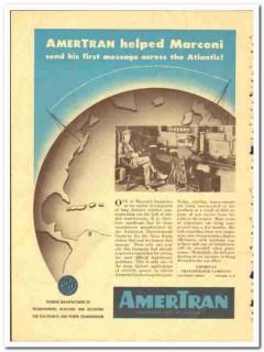 American Transformer Company 1943 vintage electrical ad Marconi