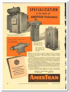 American Transformer Company 1943 vintage electrical ad performance