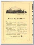 Bell Telephone System 1943 vintage electrical ad Confidence