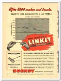 Burndy Engineering Company 1943 vintage electrical ad connector Linkit