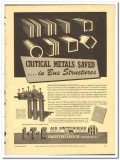 I-T-E Circuit Breaker Company 1943 vintage electrical ad bus structure