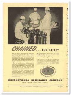 International Resistance Company 1943 vintage electrical ad chained