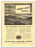 International Resistance Company 1943 vintage electrical ad power line
