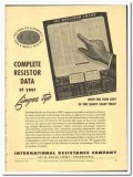 International Resistance Company 1943 vintage electrical ad resistor
