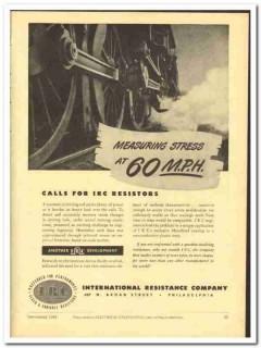 International Resistance Company 1943 vintage electrical ad measuring