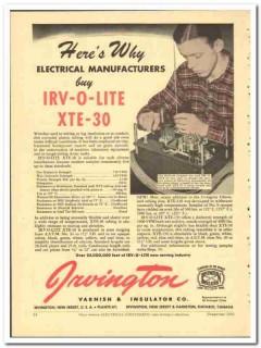Irvington Varnish Insulator Company 1943 vintage electrical ad XTE-30