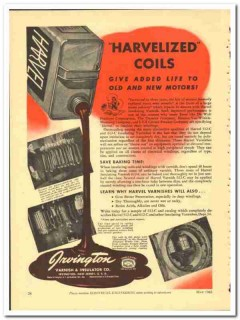 Irvington Varnish Insulator Company 1943 vintage electrical ad Harvel