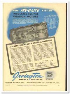 Irvington Varnish Insulator Company 1943 vintage electrical ad XTE-130