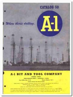 A-1 Bit Tool Company 1950 vintage oil gas catalog drilling oilfield