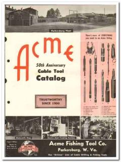 Acme Fishing Tool Company 1950 vintage oil gas catalog oilfield