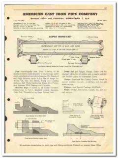American Cast Iron Pipe Company 1950 vintage oil catalog oilfield