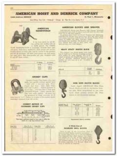 American Hoist Derrick Company 1950 vintage oil catalog oilfield