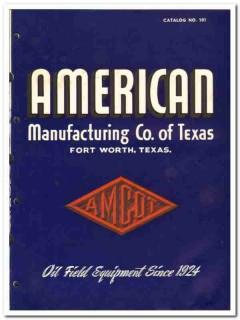American Mfg Company Texas 1950 vintage oil catalog oilfield equipment