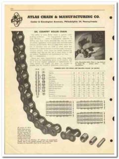Atlas Chain Mfg Company 1950 vintage oil gas catalog oilfield roller