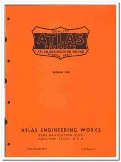 Atlas Engineering Works 1950 vintage oil catalog oilfield specialties