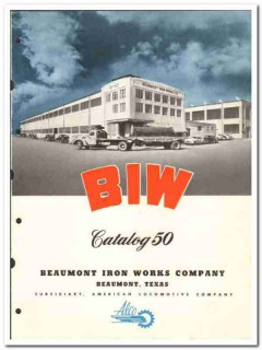 Beaumont Iron Works Company 1950 vintage oil catalog oilfield drilling