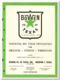 Bowen Company Texas Inc 1950 vintage oil catalog oilfield drilling