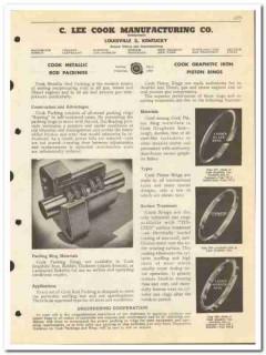 C Lee Cook Mfg Company 1950 vintage oil catalog oilfield rod packings