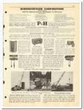Harnischfeger Corp 1950 vintage oil catalog oilfield welders cranes