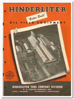 Hinderliter Tool Company 1950 vintage oil catalog oilfield equipment