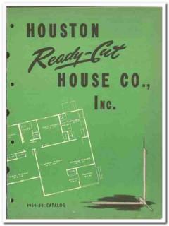 Houston Ready-Cut House Company 1950 vintage oil catalog oilfield home