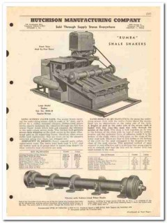 Hutchison Mfg Company 1950 vintage oil catalog oilfield shakers lights