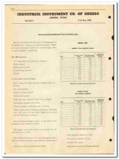 Industrial Instrument Company 1950 vintage oil catalog refining meters
