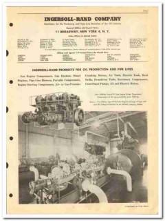 Ingersoll-Rand Company 1950 vintage oil catalog oilfield compressors