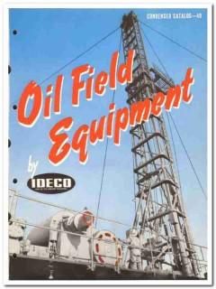 International Derrick Equipment Company 1950 vintage oil catalog IDECO