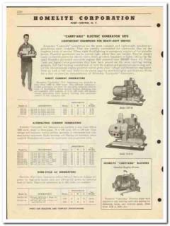 Homelite Corp 1950 vintage oil catalog oilfield generators pumps