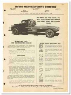 Hobbs Mfg Company 1950 vintage oil catalog oilfield bodies trailers