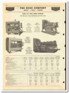 Buda Company 1950 vintage oil catalog oilfield engines diesel drilling