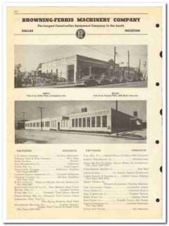 Browning-Ferris Machinery Company 1950 vintage oil catalog oilfield