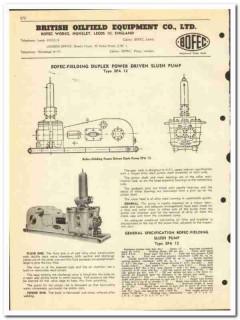 British Oilfield Equipment  Company LTD 1950 vintage oil catalog pump