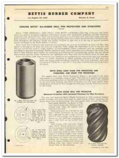 Bettis Rubber Company 1950 vintage oil catalog oilfield pipe protector