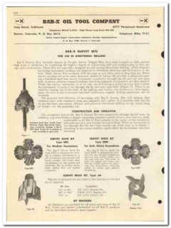 Bar-X Oil Tool Company 1950 vintage catalog oilfield drill rock bits