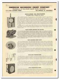 American Recording Chart Company 1950 vintage oil gas catalog oilfield