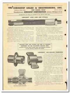 Aeroquip Sales Engineering Inc 1950 vintage oil catalog oilfield hose