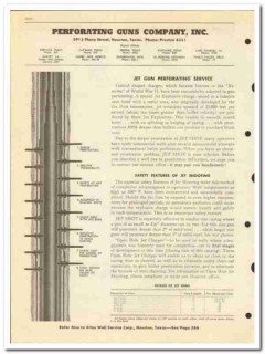 Perforating Guns Company 1950 vintage oil catalog oilfield jet service