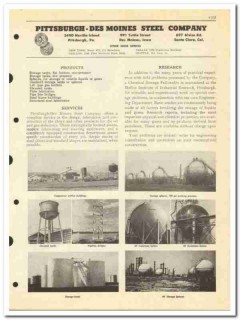 Pittsburgh-Des Moines Steel Company 1950 vintage oil catalog oilfield