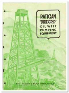 J P Ratigan Inc 1950 vintage oil gas catalog oilfield well pumping rig